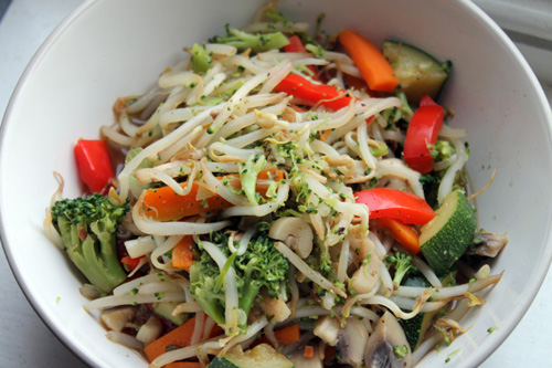 anxiety diet, bean sprout noodles
