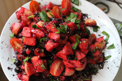 Berry fruit salad photo