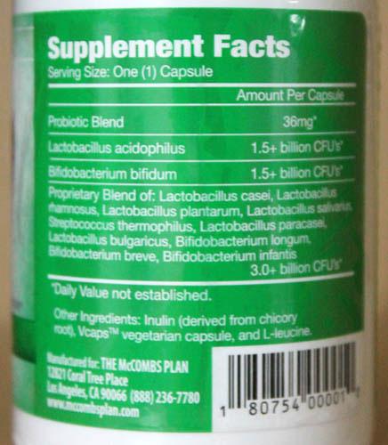 flora prime ingredients, cure candida, mccombs plan probiotic