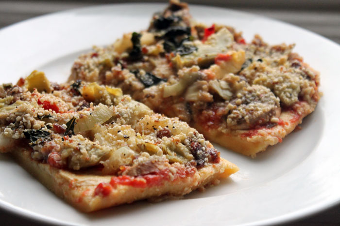 healthy pizza recipe image