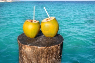 Young coconuts juice fasting picture