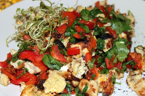 caveman diet, chicken scramble, breakfast