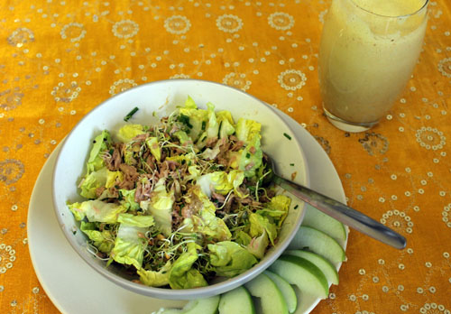 tuna salad, low carb lunch