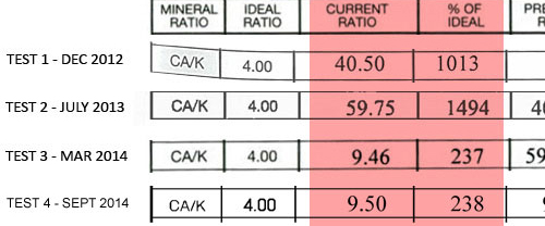 calcium-potassium mineral ratio of hair mineral analysis indicates the oxidation rate, Ca-K