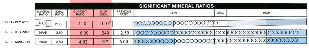 mineral ratio, sodium potassium ratio