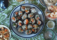 raw sushi recipe, raw food