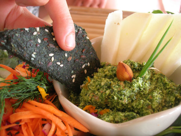 spirulina recipe, crackers