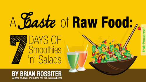 taste of raw food smoothies and salads