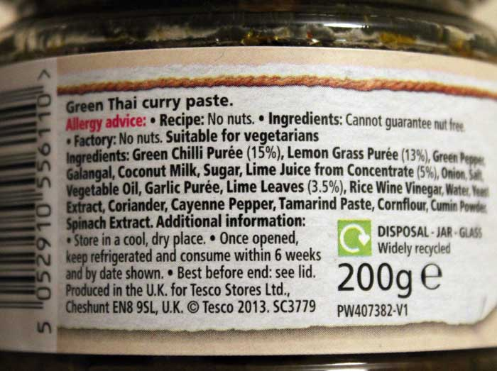 thai green curry paste ingredients image