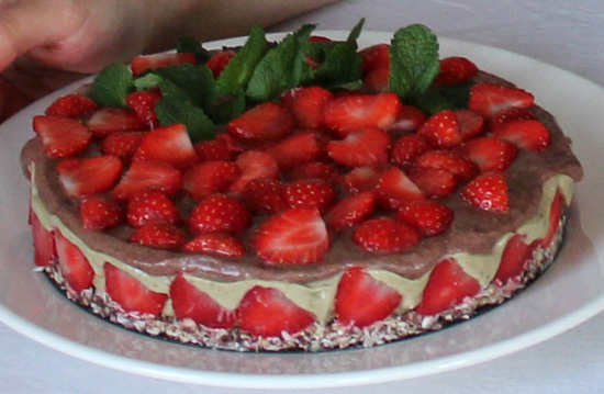 too sugary raw food diet, raw food cake image